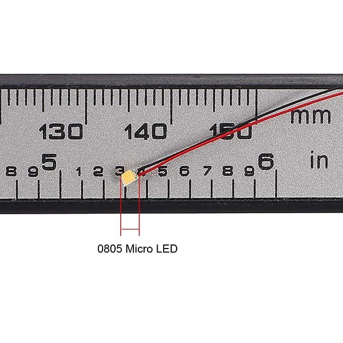 sourcing map Diodo Emisor de Luz LED SMD Precableado Micro Luz Soldada Blanco c/álido 10 piezas