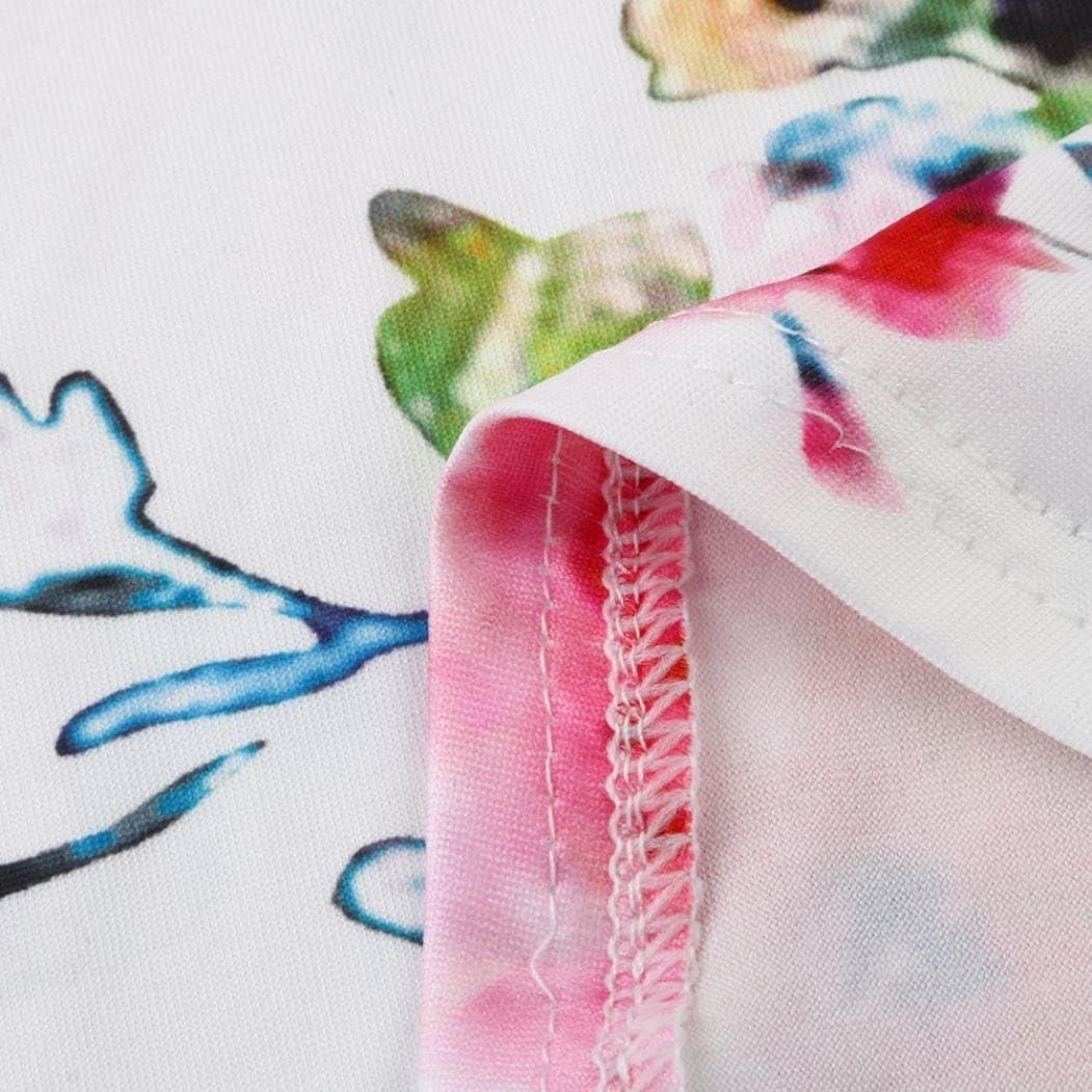 Langarmshirt Damen,Innerternet Damen Langarm Blumenmuster T-Shirt Elegant Lose V-Ausschnitt T-Shirt Sweatshirt Bluse Casual Lose Hemd Pullover Tunika Top Shirts F/ür Herbst /& Fr/ühling