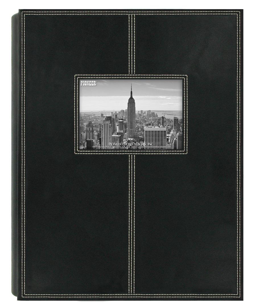 Pioneer Photo Albums 5PS-300 300-Pocket Sewn Leatherette Frame Cover Photo Album, Black by Pioneer Photo Albums