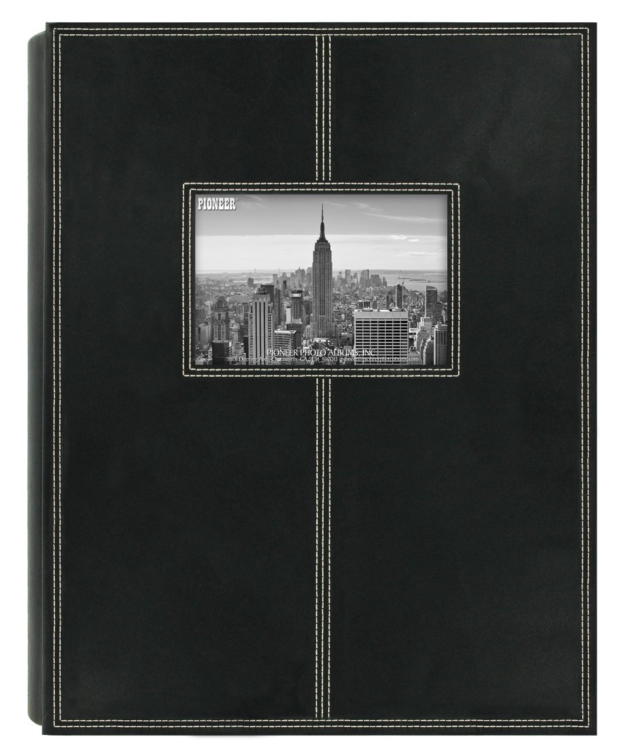 Pioneer Photo Albums 5PS-300 300-Pocket Sewn Leatherette Frame Cover Photo Album, Black