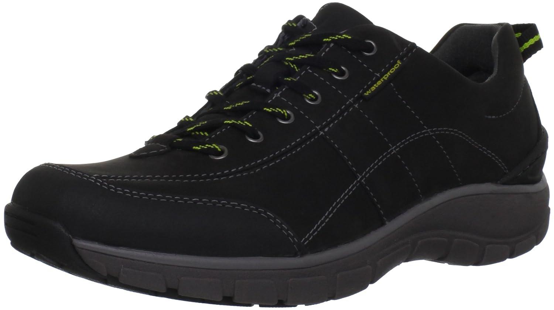 CLARKS Women's Wave Trek Sneaker. B0072GDD7C 8.5 B(M) US|Black Leather