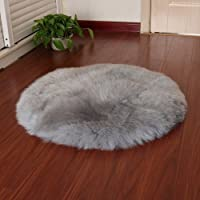 Faux Fur Sheepskin Style Rug (60 x 90 cm) Faux Fleece Chair Cover Seat Pad Soft Fluffy Shaggy Area Rugs For Bedroom Sofa Floor