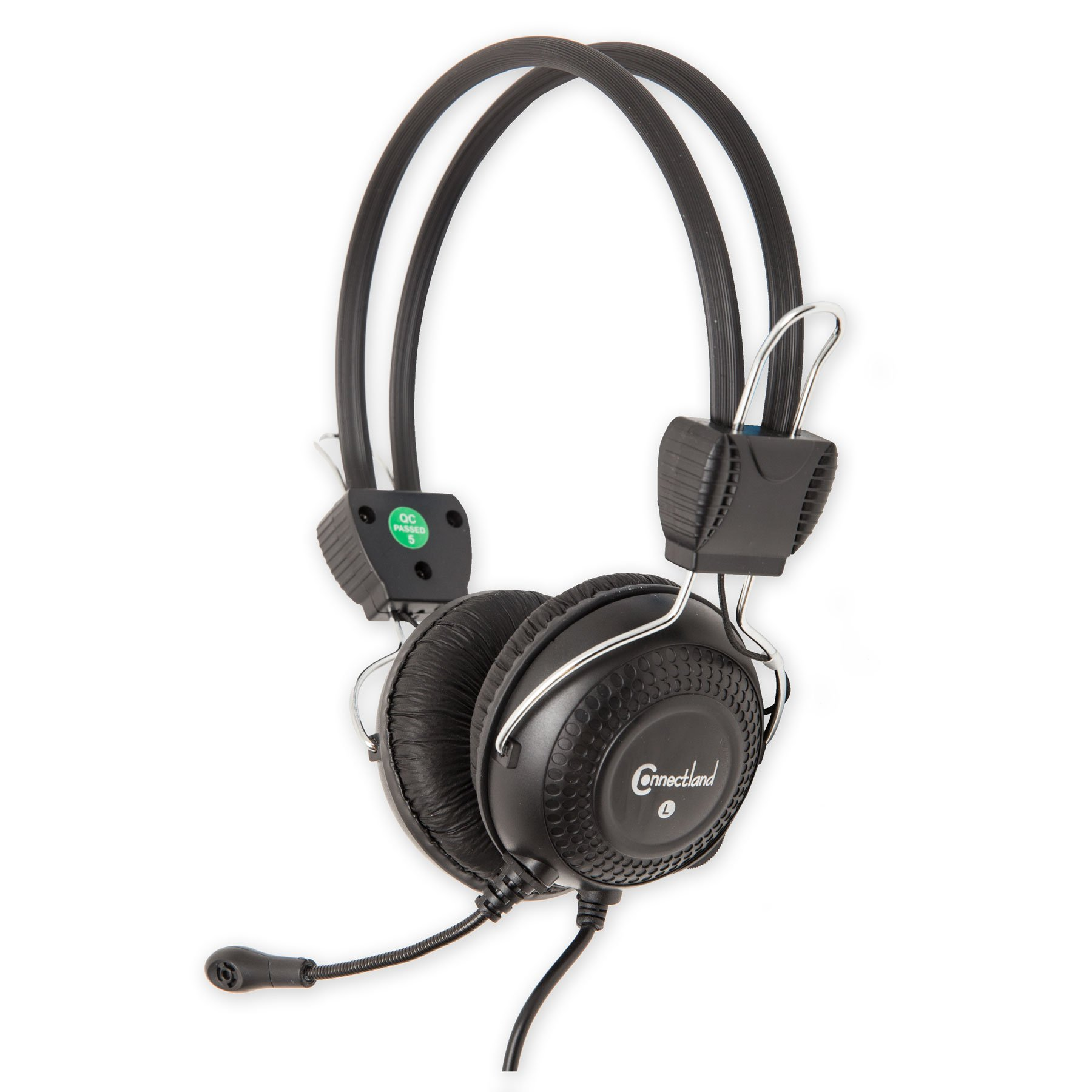 Connectland Multimedia Stereo Adjustable Headset with Boom..
