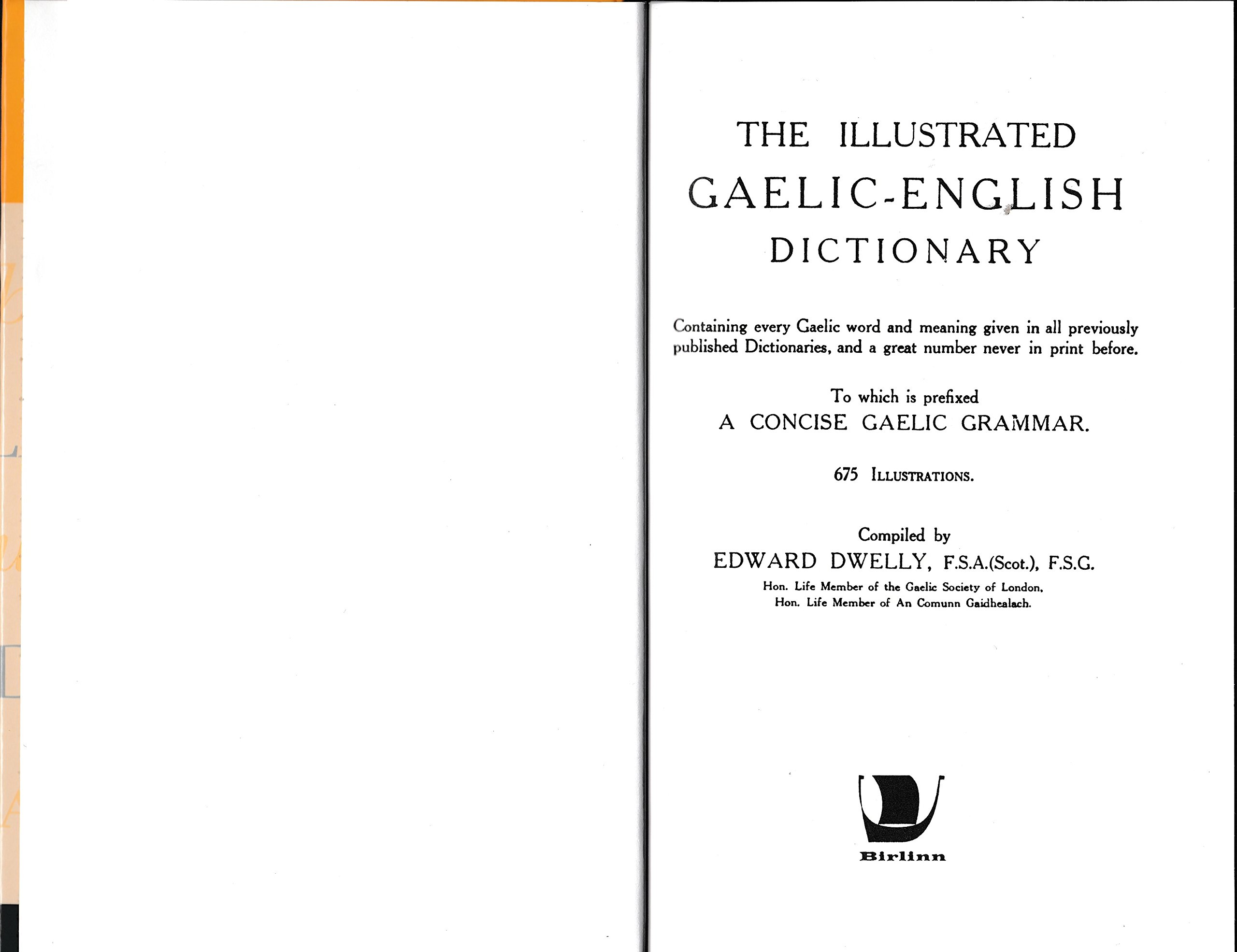 Buy The Illustrated Gaelic-English Dictionary, to Which is Prefixed a  Concise Gaelic Grammar Book Online at Low Prices in India | The Illustrated  ...