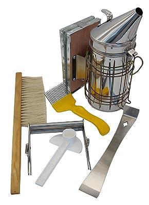 Blisstime Beekeeping Tool Kit Set of 6 Bee Hive Smoker,Bee Brsuh Beekeeping Accessory -Bee Keeping Tool