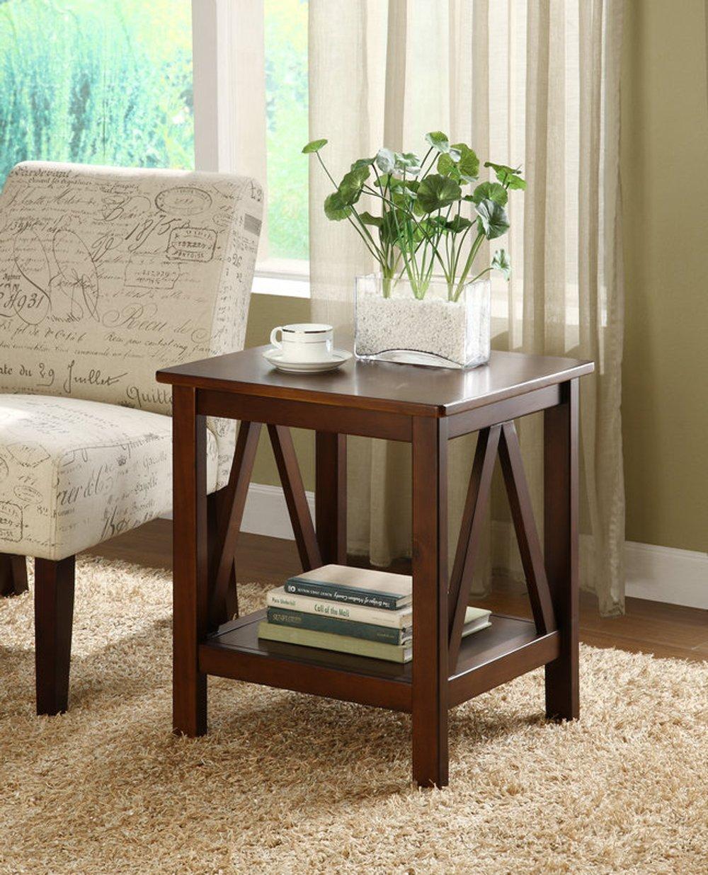 Amazon.com: Linon Home Decor Titian Antique End Table: Kitchen U0026 Dining