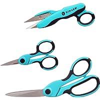 "SINGER ProSeries Sewing Scissors Bundle, 8.5"" Heavy Duty Fabric Scissors, 4.5"" Detail Embroidery Scissors, 5"" Thread…"