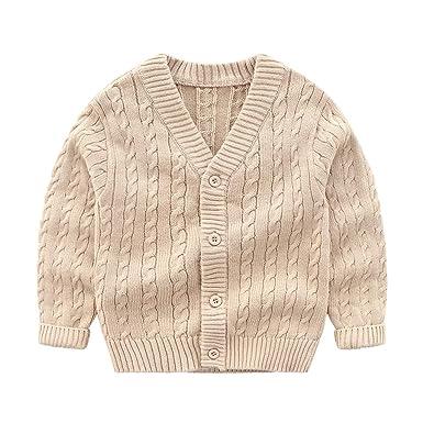 b66bd88d2 Amazon.com  Wellwits Kids Boys Cable Knit V Neck School Uniform ...
