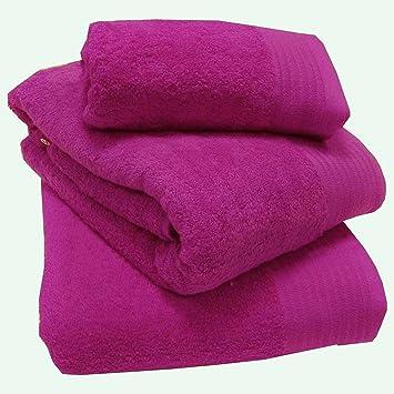 Chatsworth Superweicher Gekämmte ägyptische Baumwolle 600 GSM Luxus  Badezimmer Badetuch Magenta Dunkles Pink Hallways®
