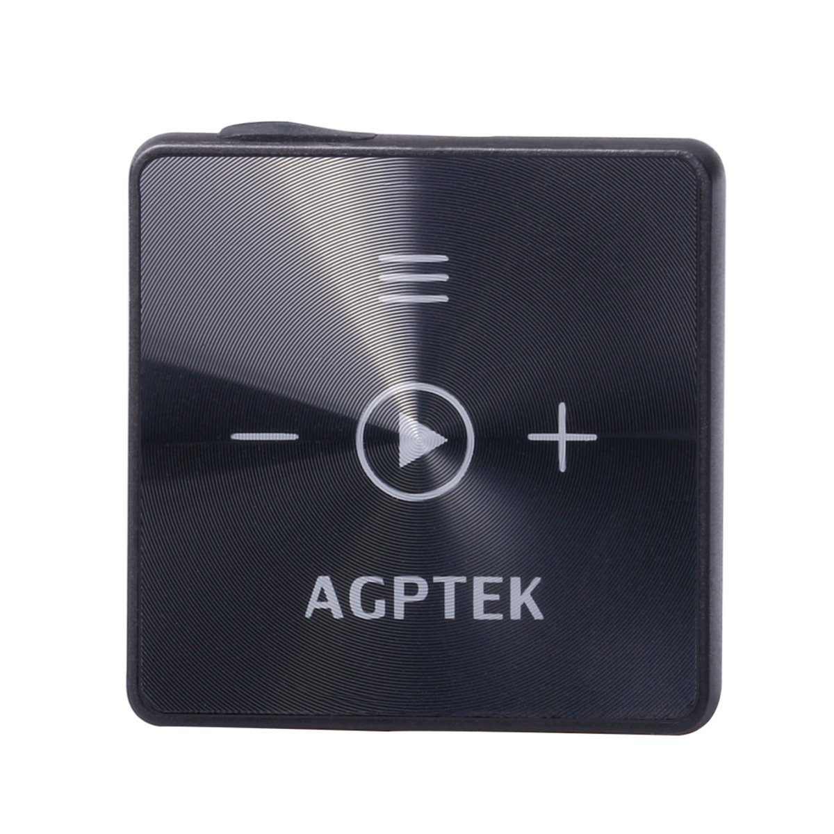 AGPTEK A15 Wireless Bluetooth 4.2 Receiver with Mini Clip for Outdoor Sports, HiFi Music Player with 8GB Memory, Black SMPA15B