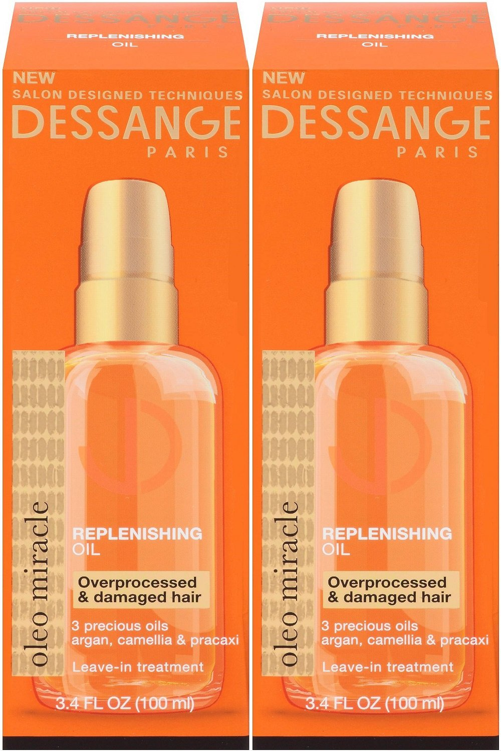 Dessange Paris Oleo Miracle Replenishing Oil, 3.4 Ounce (Pack of 2)