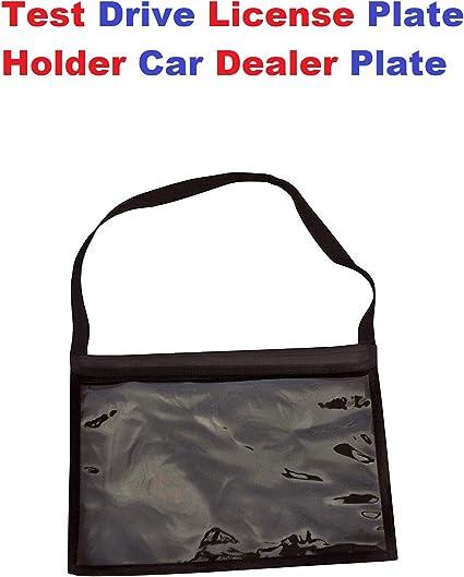 TrunkNets Inc Test Drive License Plate Holder Car Dealer Plate Tag Bag Holder New