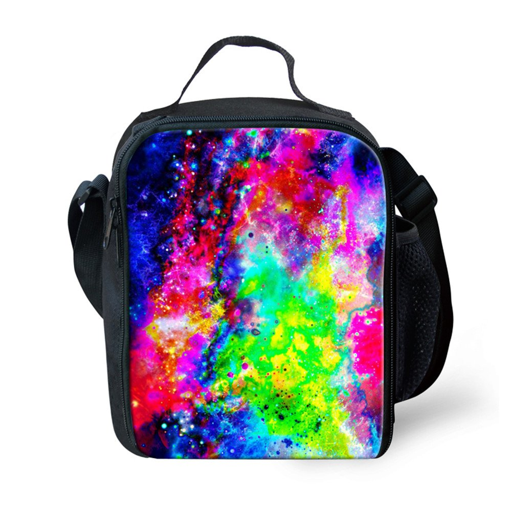 Amazon.com: Ledback 3D Galaxy Kids Lunch Bag and Canvas School Bag Durable Insulated Lunch Box for Children Boys Girls Cool Backpack Travel Satchel Picnic ...