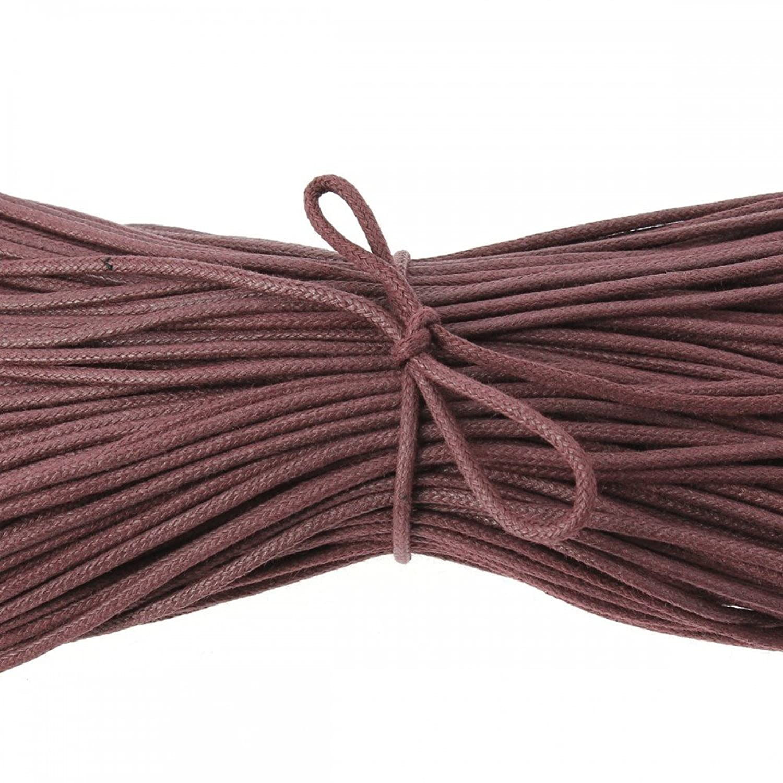 Les Lacets Fran?ais -?Cordones redondos de algodón encerado, color chocolate marrón 70 cm