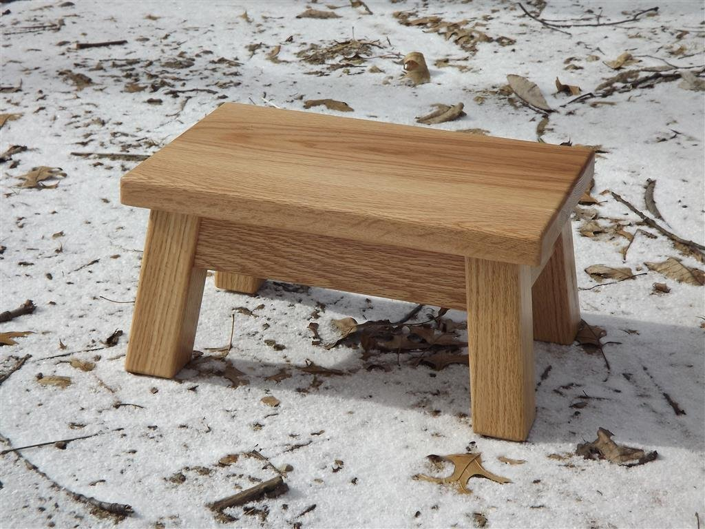 Oak step stool/ farmhouse/ foot stool/ modern/ wood step stool/ riser 8 - 10