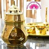 Reiki Crystal Products Vastu/Feng Shui Brass Aroma Incense Burner Camphor Lamp/Kapur Lamp/Magic Lamp/Oil Burner/Oil Diffuser