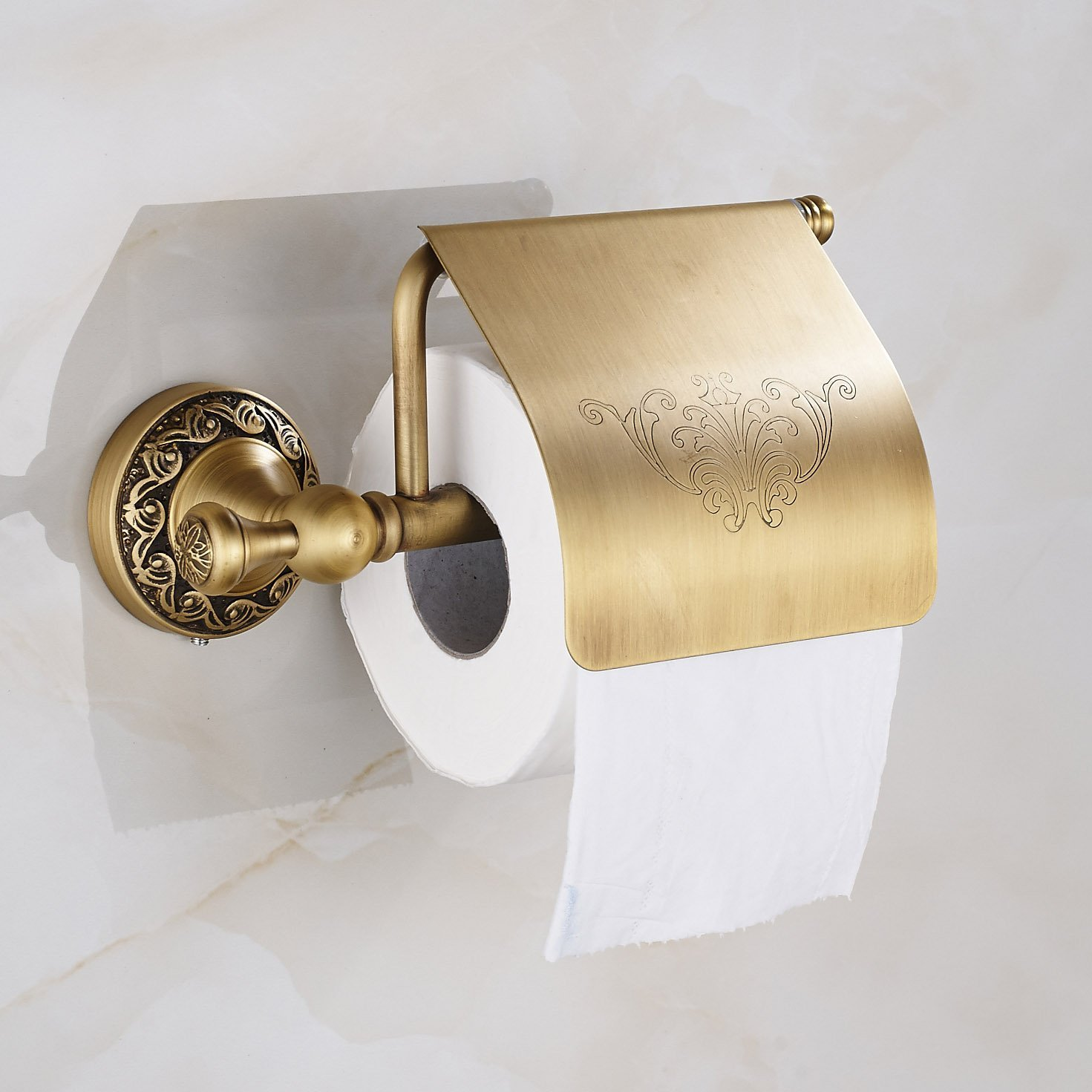 Amazoncom Oulantron Antique Brass Toilet Paper Holder Roll Tissue