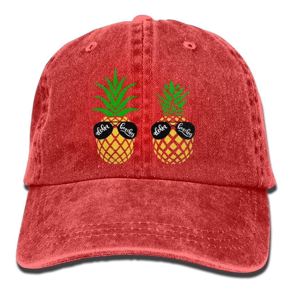Amazon.com  Aloha Beaches Pineapple Snapback Cotton Hat Ash  Clothing 82d02f41d97c