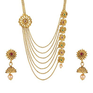 Buy Archi Collection Fashion Jewellery Antique Kundan Gold Plated