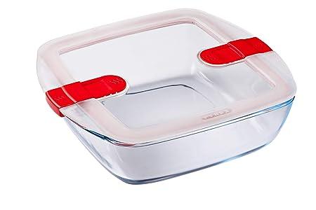 Compra Pyrex Cook et Heat - Plato cuadrado de cristal con tapa ...
