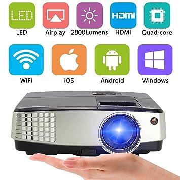 CAIWEI 2800 lúmenes proyector de cine en casa portátil películas ...