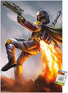 Star Wars: Saga - Boba Fett Wall Poster with Push Pins