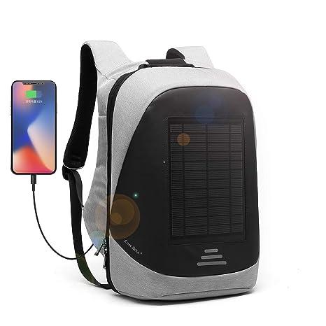 DTBG Mochila con Cargador Solar Mochila para portátil de 15.6 Pulgadas Multifunción Bolsa de Negocios antirrobo