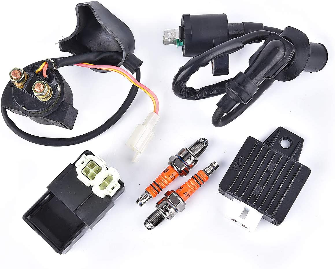 Ignition Coil CDI Solenoid Relay Voltage Regulator for GY6 50cc 125cc 150cc ATV Scooter Moped