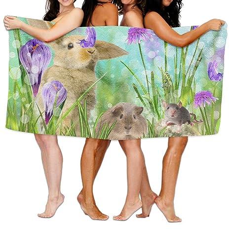 Toalla de baño conejo Super suave toallas de playa