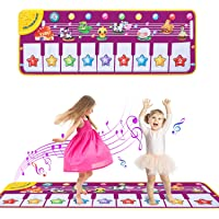 Coumius Sharp Estera de Piano Musical, Piano Música Dance Mat para Niños, Alfombrilla Musical Plegable Baby Dance Music…