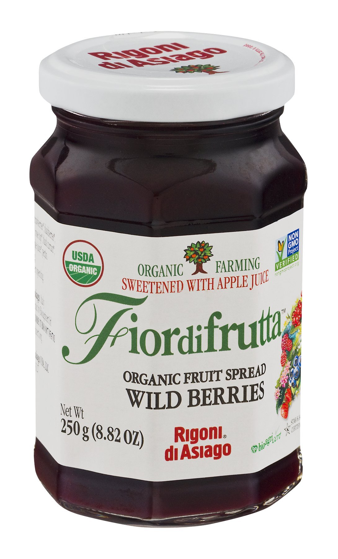 Fiordifrutta Organic Fruit Spread Wild Berries 8.82 OZ (Pack of 18)