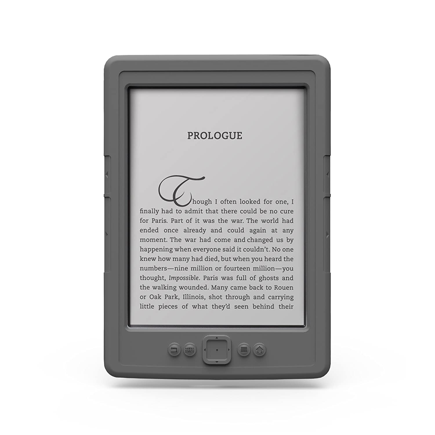 Marware SportGrip Silicone Skin Case for Kindle Cover, Gray (does not fit Kindle Paperwhite or Touch)