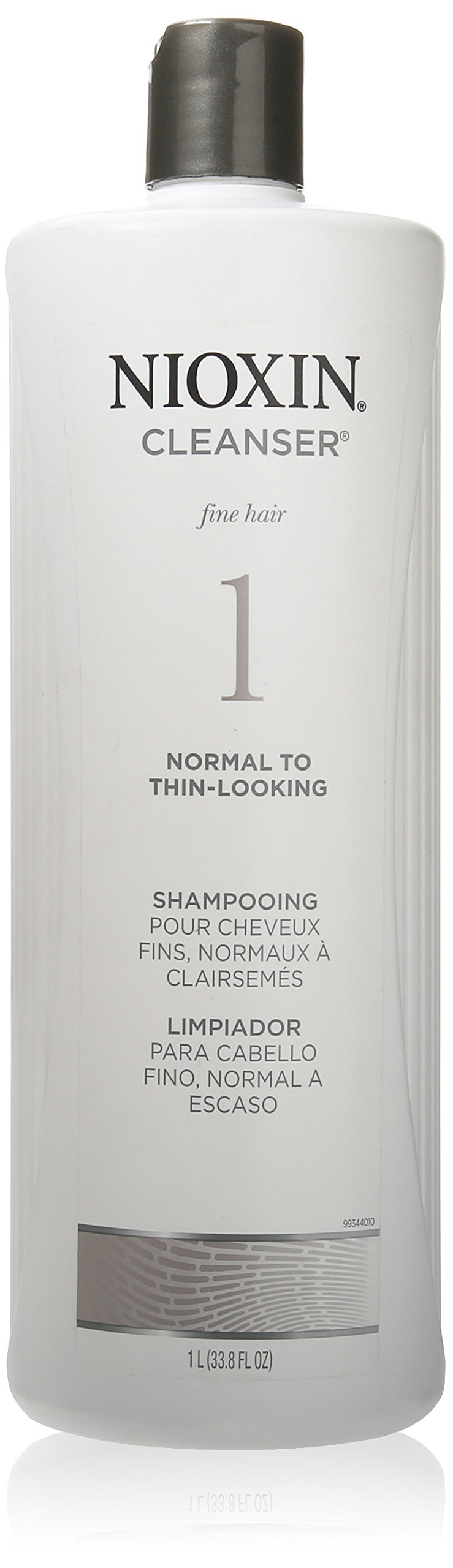 Nioxin Cleanser, System 1 (Fine Hair/Normal to Thin-Looking) Shampoo, 33.8 Ounce