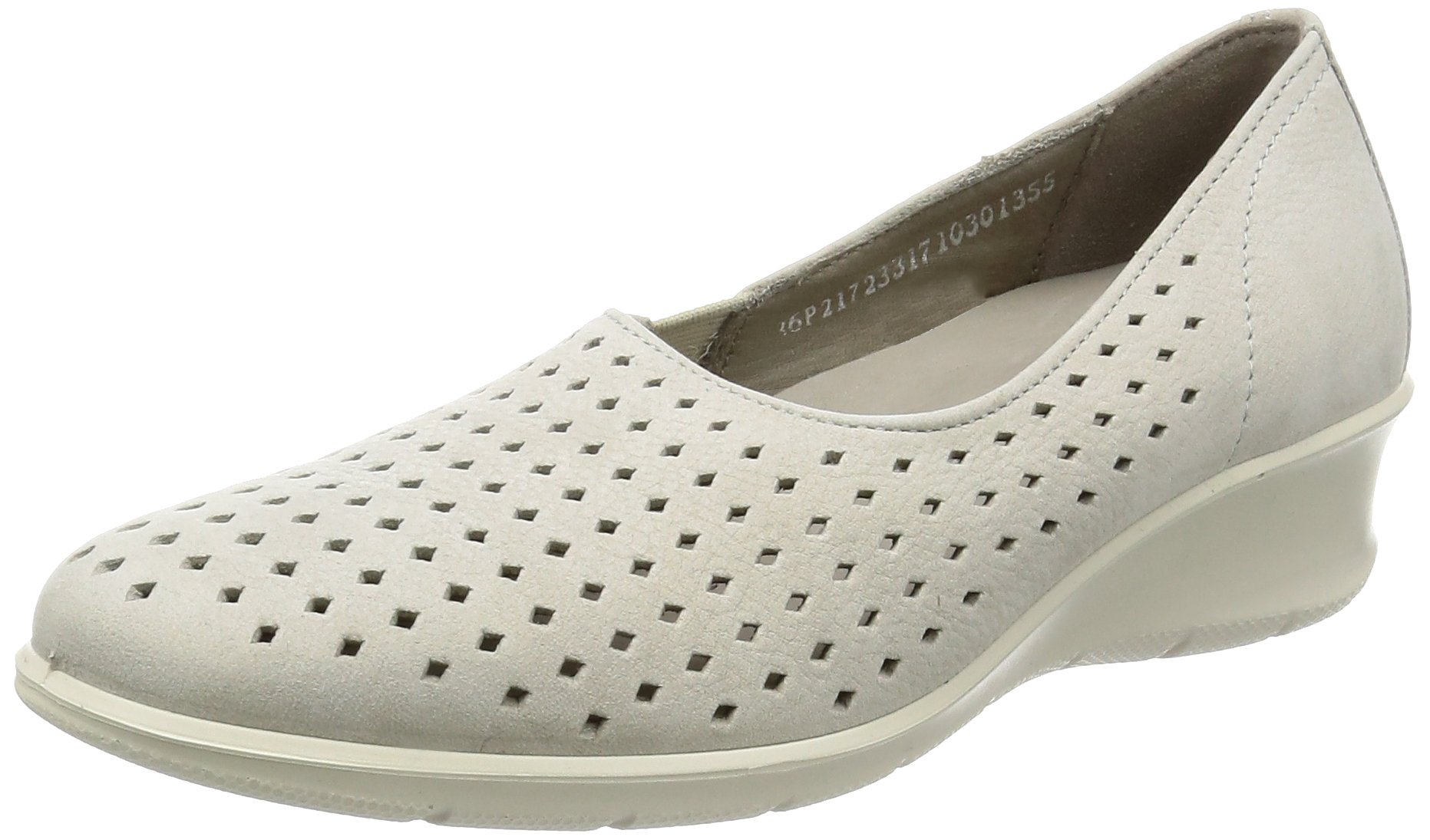 ECCO Women's Women's Felicia Summer Slip-on Loafer, Gravel, 39 EU/8-8.5 M US