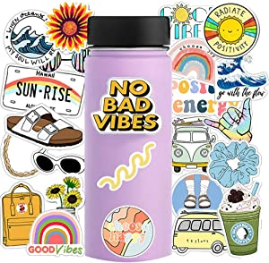 VSCO Stickers for Hydro Flask,35 Pack Cute Vinyl Waterproof for Laptop Luggage Phones Tablet Water Bottle Guitar Travel Case, Trendy Gift for Girls Teens Kids