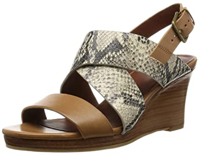 c7ea9a33b7 Cole Haan Women's Penelope Wedge Sandal, Roccia Snake Print/Camello Leather,  ...