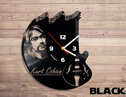 Kurt Cobain nirvana music vinyl record wall clock