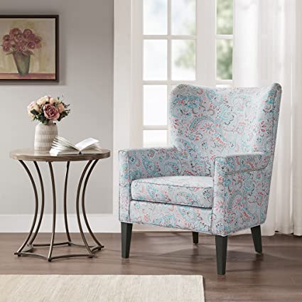 Phenomenal Colette Accent Wingback Chair Teal Multi See Below Ocoug Best Dining Table And Chair Ideas Images Ocougorg