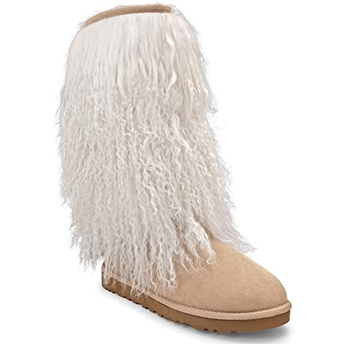 0fdfeb97d85 Amazon.com | UGG Womens Australia Tall Sheepskin Cuff Boot Sand ...