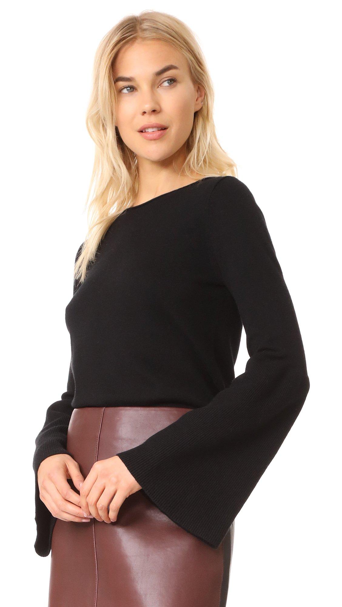 LINE Women's Fiona Bell Sleeve Sweater, Caviar, Large