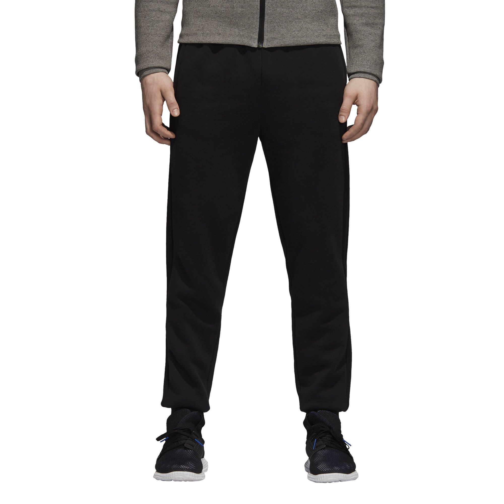 adidas Men's Essentials 3-Stripe Jogger Pants, Black, Small