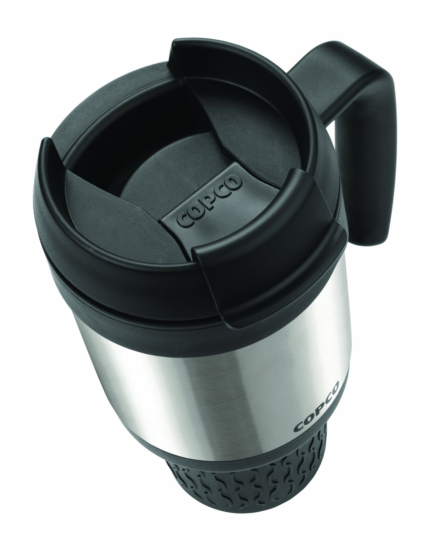 Copco 2510-1126 Stainless Steel Travel Mug with Contoured Handle, 24-Ounce, Steel