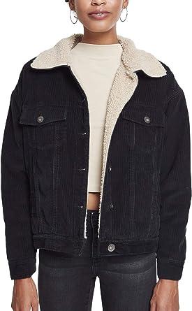 Urban Classics Ladies Oversize Sherpa Corduroy Jacket ...