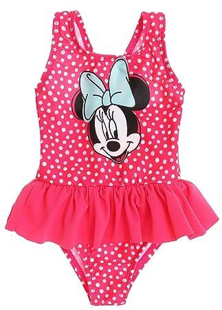 7adaf4168703b Maillot de bain 1 pièce bébé fille Minnie Rose foncé 3 à 24mois (3 mois