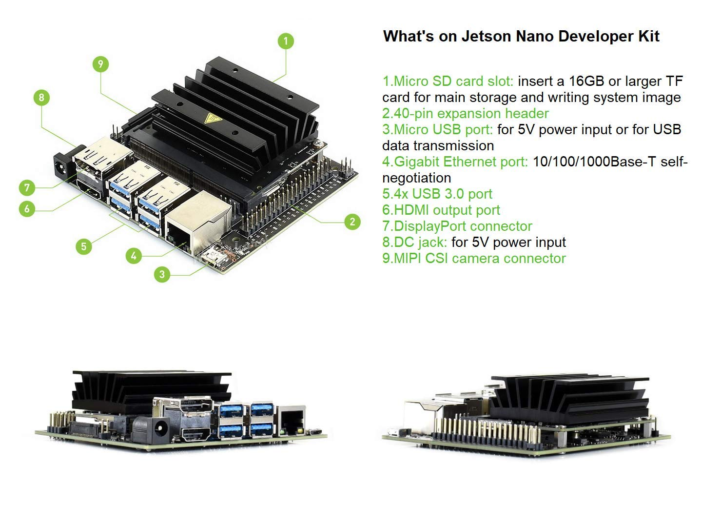 Amazon com: waveshare Jetson Nano Developer Kit, Small