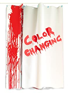 IntroWizard Color Change Shower Curtain Flat Sheets Resizable Fits Bathtubs And Showers