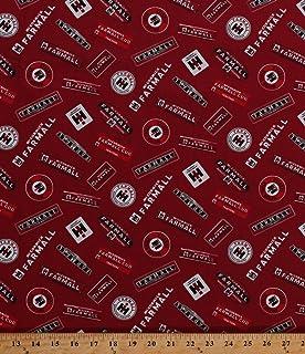 Cotton McCormick Farmall Logos International Harvester Farming Farms Farmer Country Red Cotton Fabric Print by the