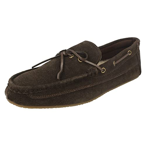 49eed600555 Clarks Mens Slippers Crackling Glow - Brown Suede - UK Size 7G - EU Size 41  - US Size 8M  Amazon.co.uk  Shoes   Bags