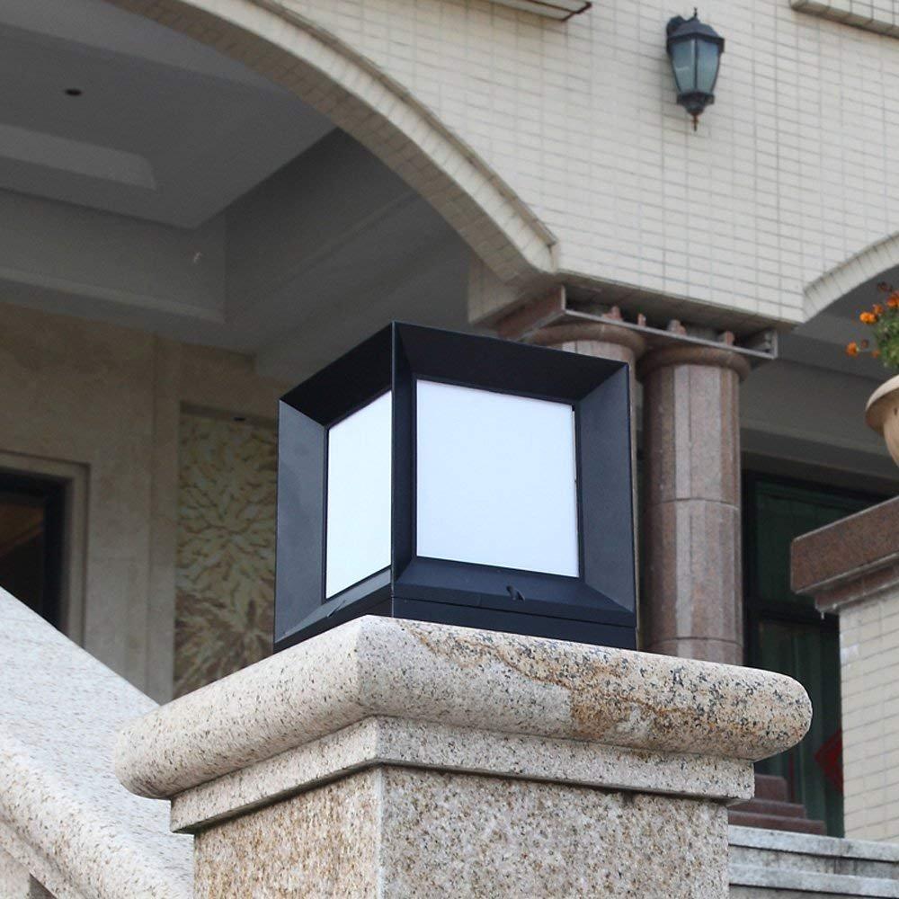 L/ámpara de Jard/ín Moderno Creativo Cuadrado Led Al Aire Libre Columna de la Linterna Patio Luz de Cercado Plaza Europea Simple Impermeable Puerta Pilar de Luz
