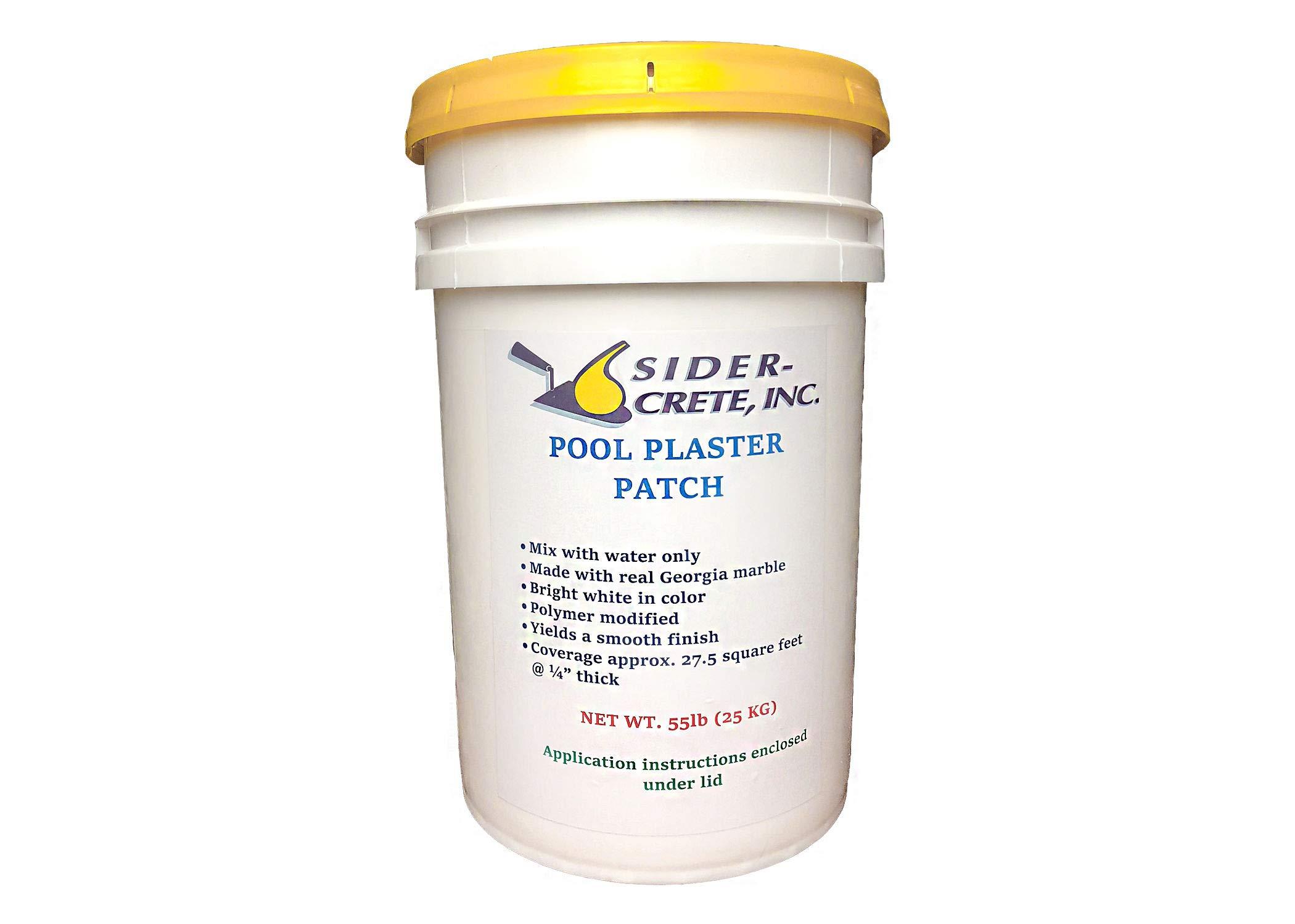 Sider Pool Plaster Patch White- 55 lb - Bonus 5 lb Added for The Same by Sider-Crete
